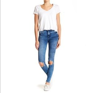 Free People Busted Knee Skinny Jeans Sz 29 L
